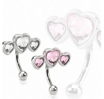Piercing arcade triple coeur