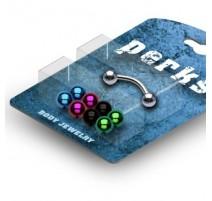 Pack Piercing Arcade Acier chirurgical + Boules Titane anodisé - Bijou Piercing pour Arcade