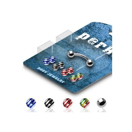 Pack Piercing Arcade Acier chirurgical Boules Striées - Bijou Piercing pour Arcade