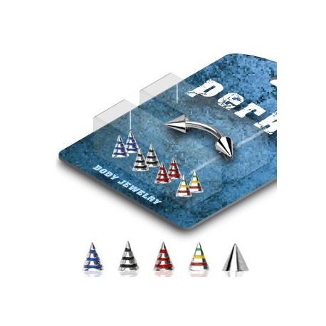 Pack Piercing Arcade Acier chirurgical Pointes Striées - Bijou Piercing pour Arcade