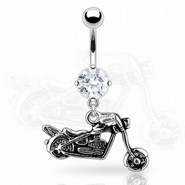 Piercing nombril moto