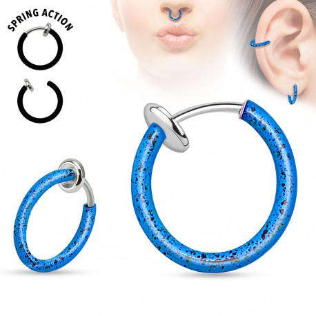 Faux piercing nez septum tâches