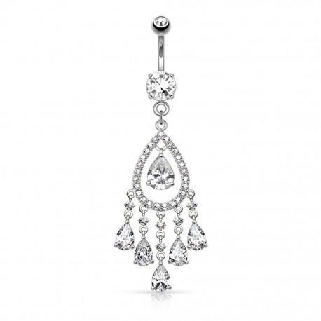 Piercing nombril chandelier