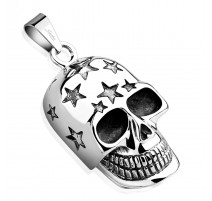 Pendentif skull étoiles