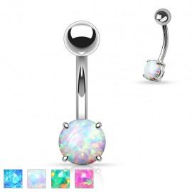 Piercing nombril opale