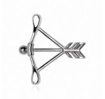 Piercing téton arc flèche