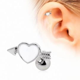 Piercing cartilage coeur flèche