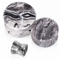 Piercing plug pierre jaspe océan