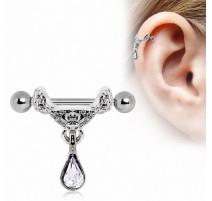 Piercing cartilage pendentif tiare