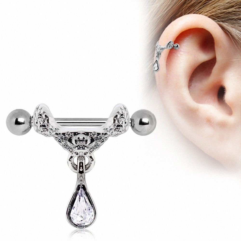 piercing cartilage pendentif tiare. Black Bedroom Furniture Sets. Home Design Ideas