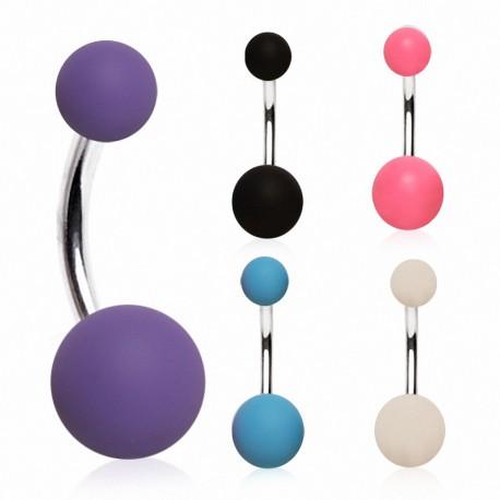 Piercing nombril boules caoutchouc