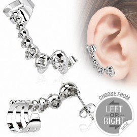 Boucle d'oreille skulls