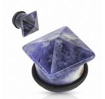 Piercing Plug Pierre semi précieuse Sodalite Pyramide