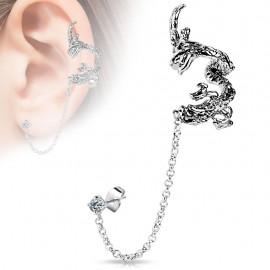 Boucle d'oreille chaine dragon