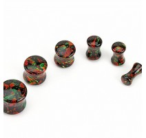 Piercing plug acrylique tâches