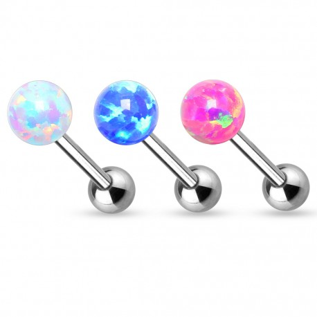 Piercing cartilage opale synthétique