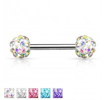 Piercing téton crystal