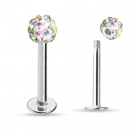 Piercing labret monroe crystal