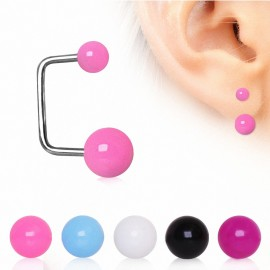Piercing cartilage oreille loop boules