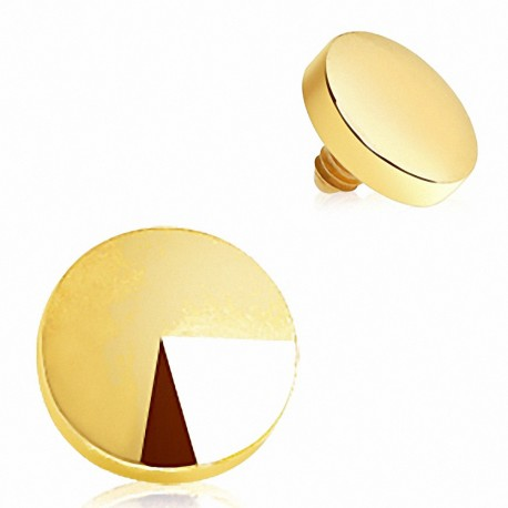 Piercing microdermal disque plaqué or