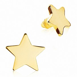 Piercing microdermal étoile plaqué or