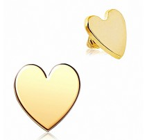 Piercing microdermal coeur plaqué or