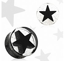 Piercing plug acrylique étoile 3D