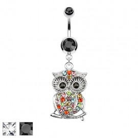 Piercing nombril hibou branche