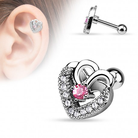 Piercing cartilage Double coeur