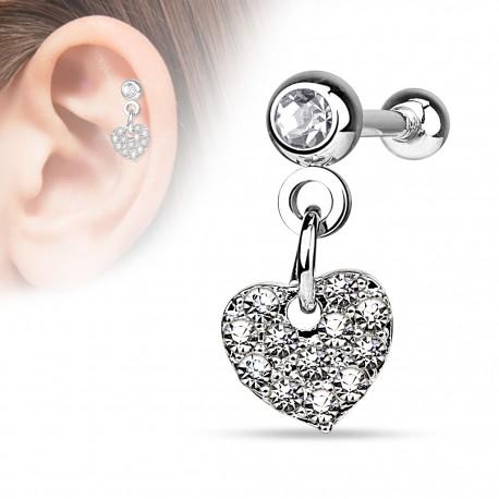 Piercing cartilage pendentif coeur