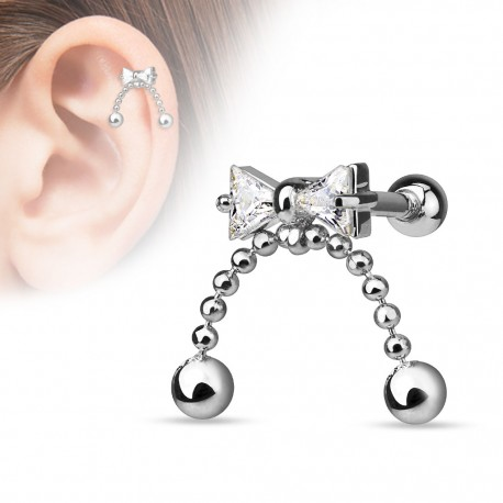 Piercing cartilage noeud chaines