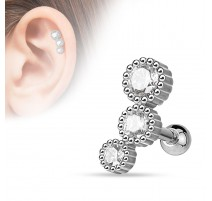 Piercing cartilage triple strass