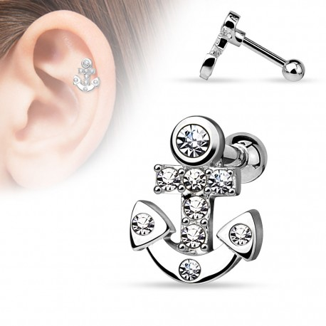 Piercing cartilage ancre marine