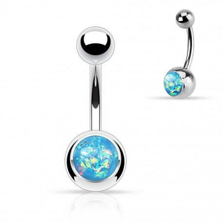Piercing nombril opale paillettée