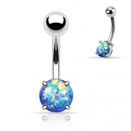 Piercing nombril pierre opale paillettée