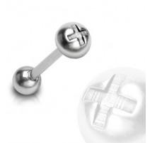 Piercing langue Tête de vis en acier chirurgical - Bijou Piercing Langue