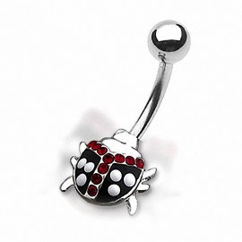 Piercing nombril coccinelle