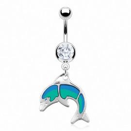 Piercing nombril dauphin