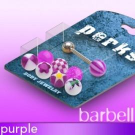 Pack Piercing Langue Boules Acrylique Violet