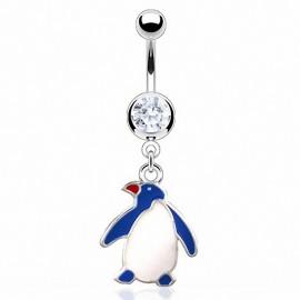 Piercing nombril pingouin
