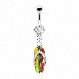 Piercing nombril Tong Jamaïque