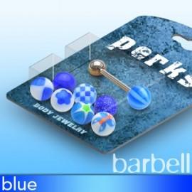 Pack Piercing Langue Boules Acrylique Bleu
