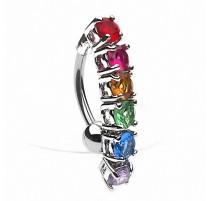 Piercing nombril Inversé Rainbow Gay Pride