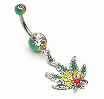 Piercing nombril cannabis
