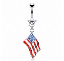 Piercing nombril Drapeau USA