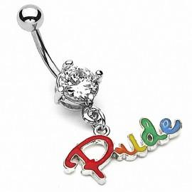 """Piercing nombril Gay Pendentif """"Pride"""""""