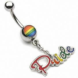 Piercing nombril Gay Pride