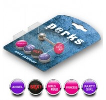 Pack Piercing Langue Acier Logos Girls - Bijou Piercing Langue
