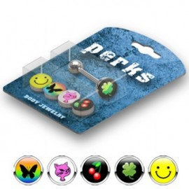 Pack Piercing Langue Acier Logos Smiley