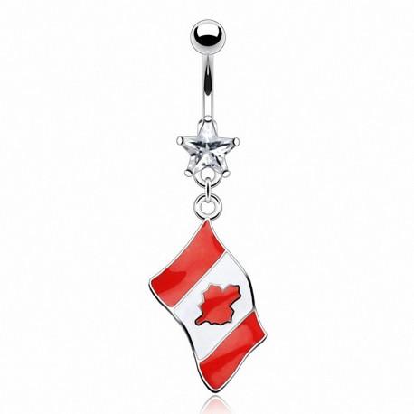 Piercing nombril Drapeau Canada